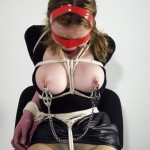 Submissive Isanne Tied Up and Nipple Clamped in Bondage